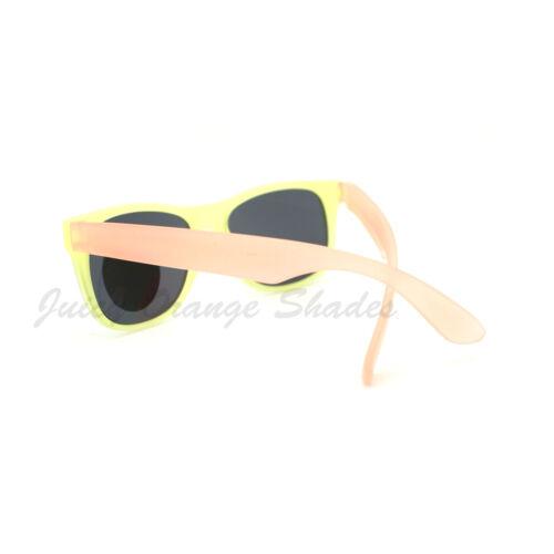 Pastel Matte Finish Square Sunglasses Frame Change Colors in the Sun