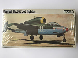 Vintage Frog 1/72 Scale Heinkel HE.162 Jet Fighter Model Kit Airplane F401  (80)