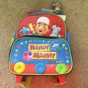 "New Disney Handy Manny 12"" Toddler Rolling w/Handle ..."