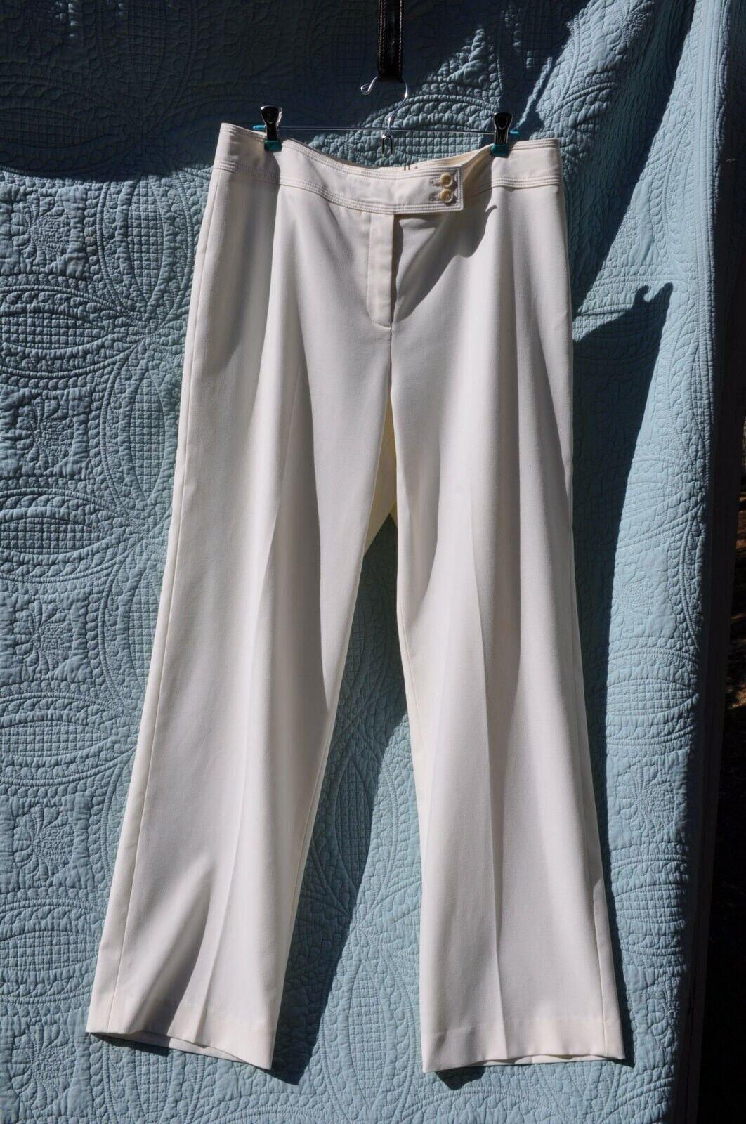 Josephine Chaus Off-White Cream Beige Pants 14 w defect