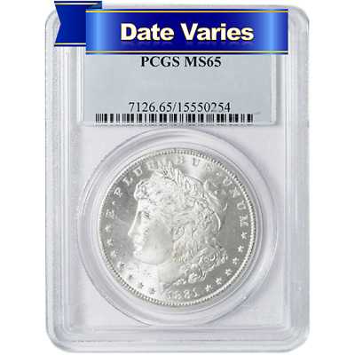 Random Year 1878-1904 Morgan Silver Dollar $1 MS64 PCGS