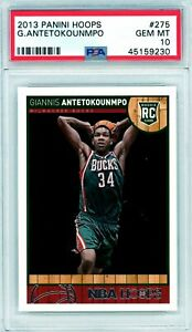 GIANNIS ANTETOKOUNMPO 2013-14 Panini Hoops Rookie Card RC #275 PSA 10 Gem Mint