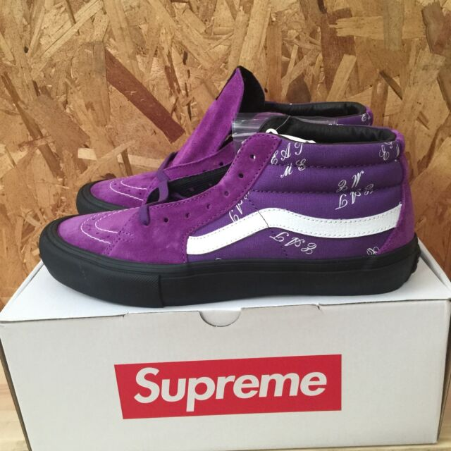Vans x Supreme SK8-Mid Pro - Eat Me - Purple NEW WITH BOX Size 0631f2e0b