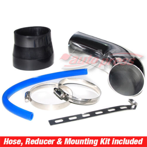 Universal COMPLETE COLD AIR INTAKE Induction KIT HOSE System CONE Filter CHROME
