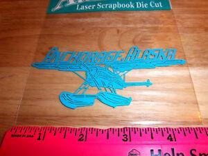 Anchorage-Alaska-Float-Plane-Laser-Scrapbook-Die-Cut-Acid-Free-New-in-package