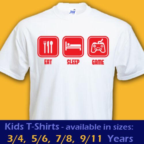 EAT SLEEP GAME xbox video game gamer playstation gaming t-shirt kids boys girls