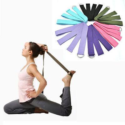180CM Adjustable Yoga Stretch Strap D-Ring Belt Waist Leg Fitness Training Belt