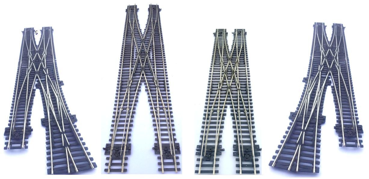 Hornby spaced 67mm  double crossing Scissor Credver Points OO gauge used parts