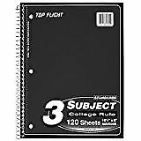 Top Flight, Standards Notebook, 3 Subject, College Rule