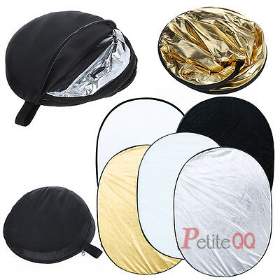 90cm x 120cm 5-in-1 Photo Studio Multi Collapsible Light Reflector Free Carrybag