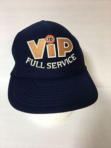 Vintage 80s 76 VIP Full Service Mesh Trucker Snapback Hat