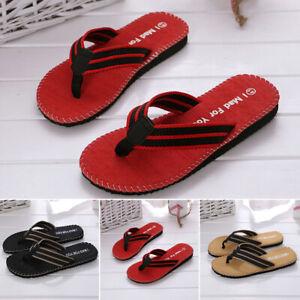 Summer-Soft-Casual-Men-Flat-Wedge-Sandals-Thong-Flip-Flops-Slippers-Beach