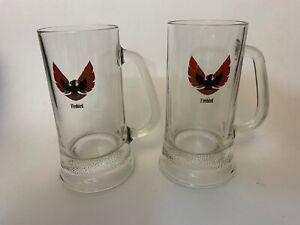 Pontiac-Firebird-Beer-Mug-Rare-Find-Set-of-2