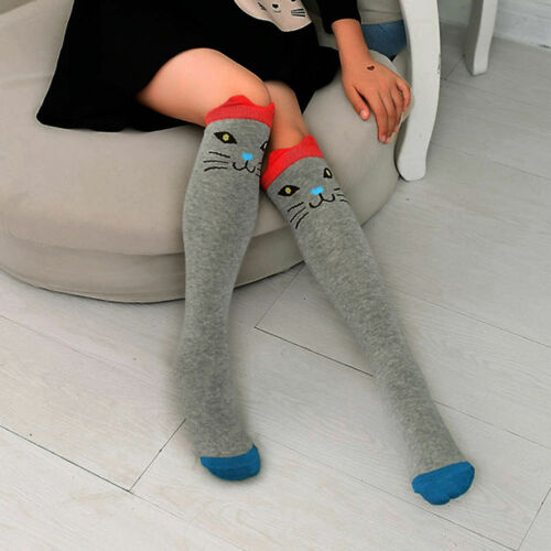 New Baby Kids Girls Knee High Socks Tights Cartoon Animal Leg Warmer Stockings H