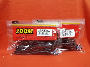 """ZOOM 6.5/"""" Trick Worm 20cnt 2 PCKS Fishing  Lures #006-326 Scuppernong Candy"""