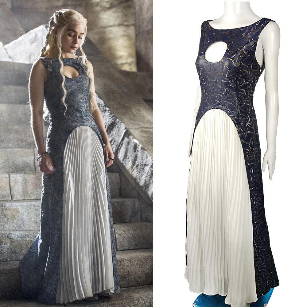 Hallågeen spel Of Thrones Cosspela Daenerys Targaryen Qkonsth klädklädnad