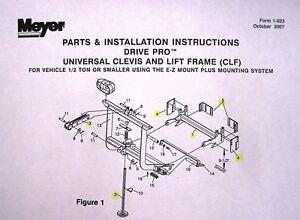 genuine meyer 16603 ez mount plus plow system drive pro. Black Bedroom Furniture Sets. Home Design Ideas
