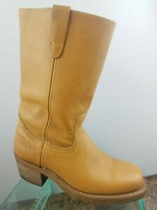 8m Colorado in Western Pull color pelle Quadrato Up Boots Cowboy avana Work Womens F7qxwdIdnA