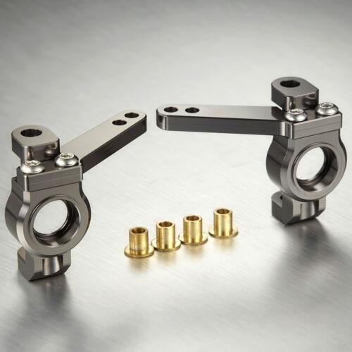 TFL CNC Aluminum Front Steering Knuckles Set For Axial SCX10 RC Car C1401-14
