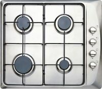 Prima Prgh102 60cm Gas Hob Kitchen Appliance 4 Ring Side Controls Flame Safety