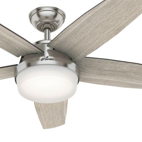 Hunter Fan 52 inch Contemporary Brushed Nickel Ceiling Fan w/ Light Kit & Remote