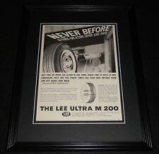 1961 Lee Ultra M 200 Tires 11x14 Framed ORIGINAL Advertisement
