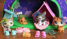 Littlest Pet Shop Campfire Light Up Dome Husky Dog Lot #358 #174 RARE Pom #1599