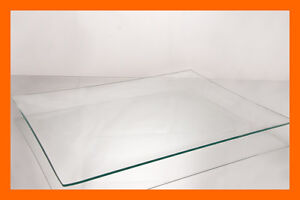 "12"" x 20"" Rectangle Clear  BENT Glass Plate 1/8"