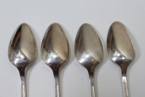 4 Oneida Community Coronation Pattern Silverplate Flatware Teaspoons