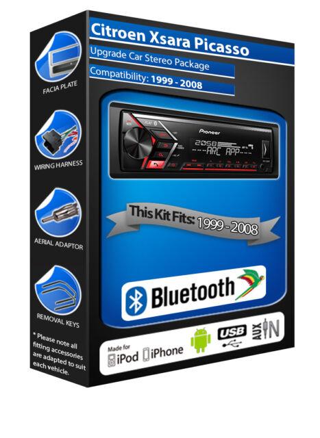 Citroen Xsara Picasso Radio de Voiture Pioneer MVH-S300BT Stereo Kit Main Libre