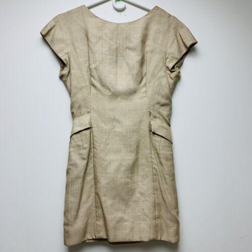 Vintage Teal Traina Sheath Dress Cream
