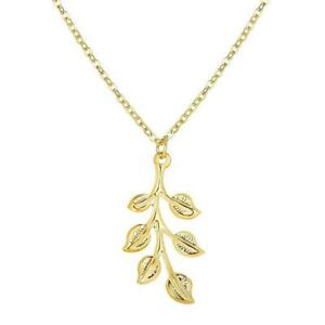 Fashion-Leaf-Gold-Pendant-Necklace-Choker-Clavicle-Lady-Jewelry-Chain-K1J8