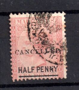 Mauritius-QV-1878-1-2d-on-10d-Cancelled-scarce-as-fine-used-SG79-WS19568