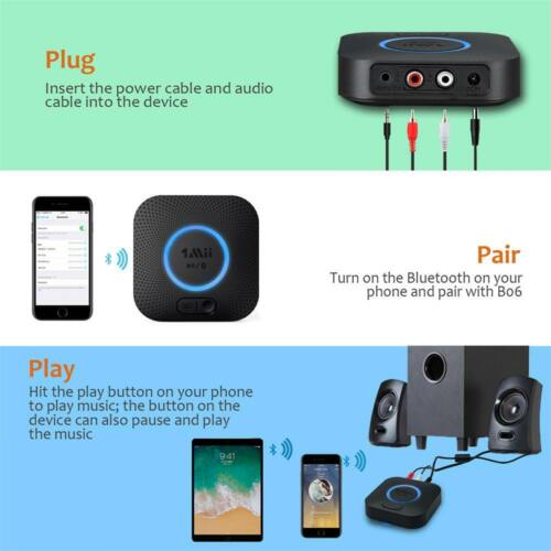 Bluetooth Receiver Hi-Fi Wireless Audio Adapter 1Mii B06 3D Surround aptX DSP