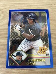 2003 Topps Traded #T200 Robinson Cano Blue Rookie Card
