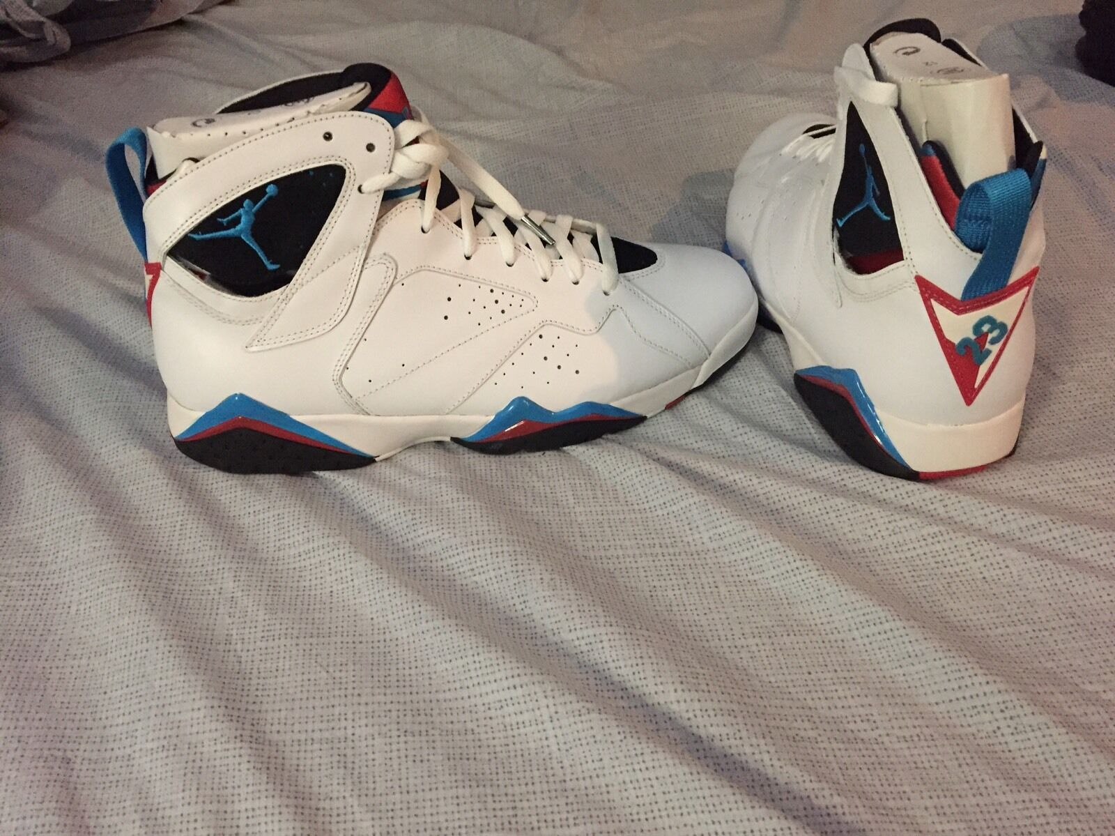2011 Nike Air Jordan VII 7 Retro WHITE /ORION BLUE