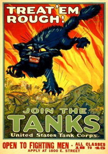 MAGNET WAR Poster PHOTO MAGNET World War 1 Join US Tank Corps 1918