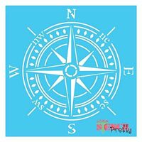 Stencil - Vintage Compass Template Shabby Chic Furniture And Wall Art