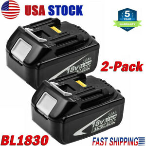 2Pack-For-Makita-BL1830-2-18V-3-0Ah-Lithium-Ion-LXT-Battery-BL1850-BL1840-BL1860