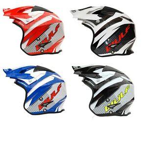 NEW Red Wulfsport Trials Helmet Beta Gasgas Txt Montesa Rev Sherco ...