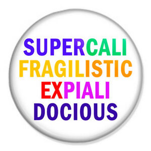 PRACTICALLY PERFECT IN EVERY WAY Mary Poppins 25mm Button Badge 1 inch