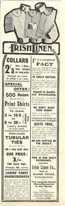 1905 Irish Linen Company Acomb Street Manchester Vintage Ad - Jarrow, United Kingdom - If for any reason you are not satisfied with your item, do let us know. If you wish to return it, you may, within 14 days, and we will issue you with a full refund. Most purchases from business sellers are protected by the Consume - Jarrow, United Kingdom