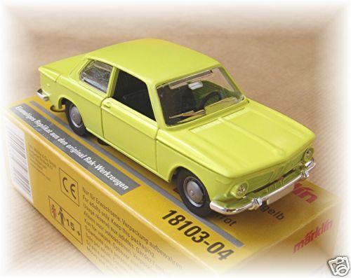 Märklin 18103-04 BMW 2002 1:43 giallo zolfo #neu OVP