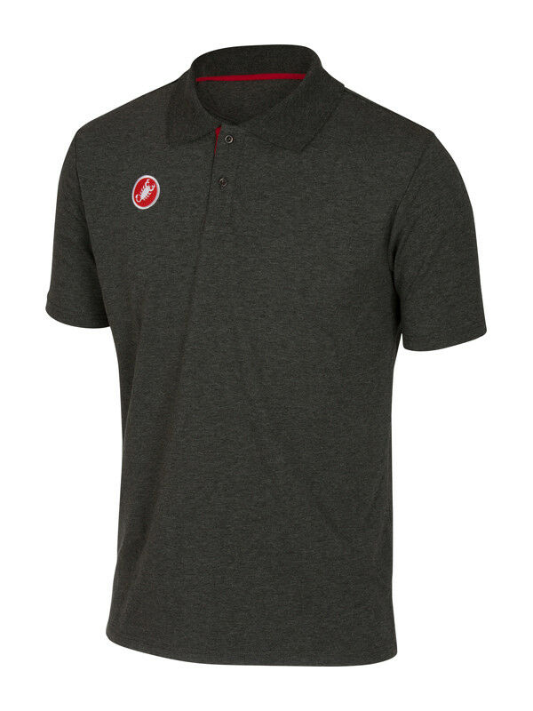NEW Castelli Cycling RACE DAY POLO Casual SHIRT   MELANGE GREY - All Sizes