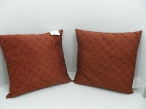 Pair 2 Kohl S Throw Pillows Sofa Bed Clay Brown Size