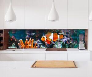 Adesivo cucina parete pesci corallo mare lamina piastrelle
