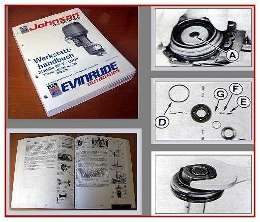 Johnson Evinrude 120 125 140 185 200 225 250 300 EI 90° LV Werkstatthandbuch