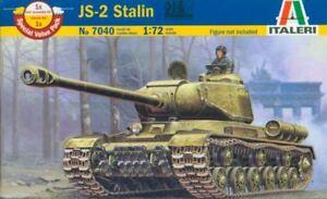 IS-2-JS-2-Staline-sovietique-marquage-7040-1-72-ITALERI-2-modeles-a-l-039-interieur