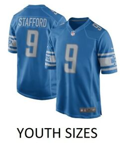 b6a07601 Matthew Stafford Detroit Lions Nike Youth Boys Game Jersey - Blue | eBay