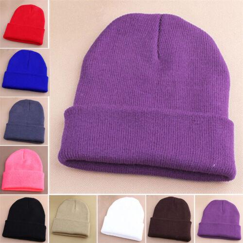 Knit Winter Women Men Beanie Hat Unisex Comfy Ski Cap Fashion Beanie Hats Cheap!